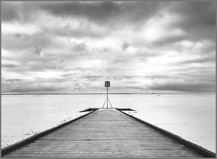 monochrome SHAPES on the SHORELINE: Lytham Jetty