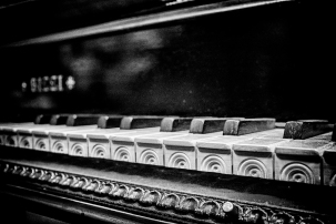 Harpsicord Keyboard close up in Monochrome Cee's Black&White Challenge