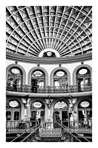 Leeds Corn Exchange monochrome B&W