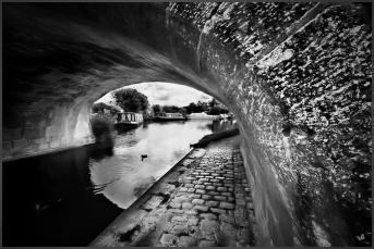Canal Bridge in Monochrome Lancaster Canal