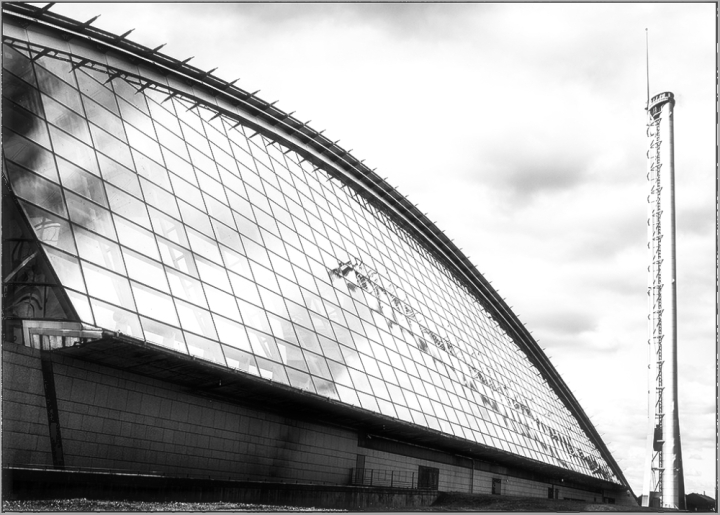 Glass architecture CB&W monochrome