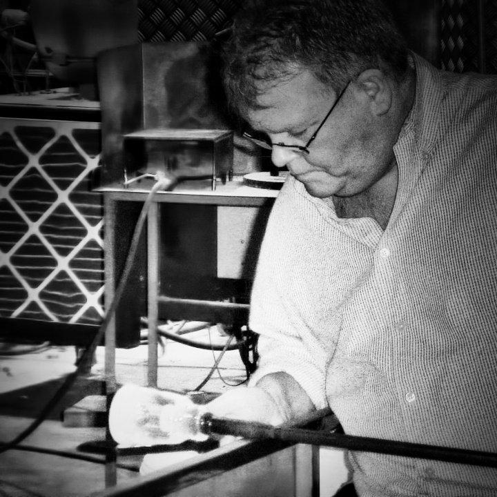 Glassblower in Caithness Glass Factory